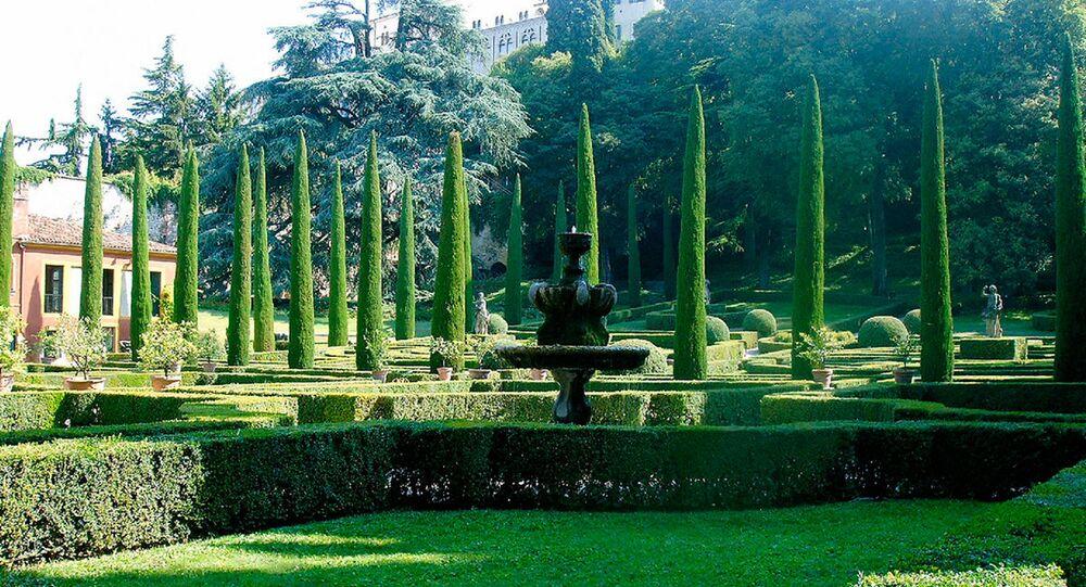 Giardino Giusti a Verona, Italia