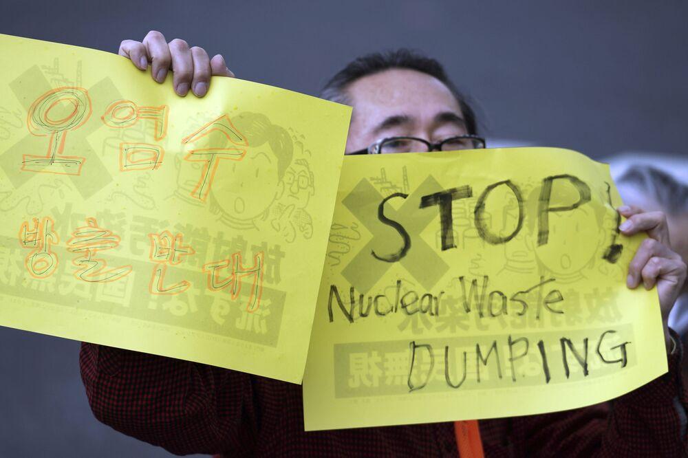 Forti le proteste di Cina, Corea del Sud e soprattutto dei pescatori giapponesi, che temono ripercussioni sulla fauna ittica