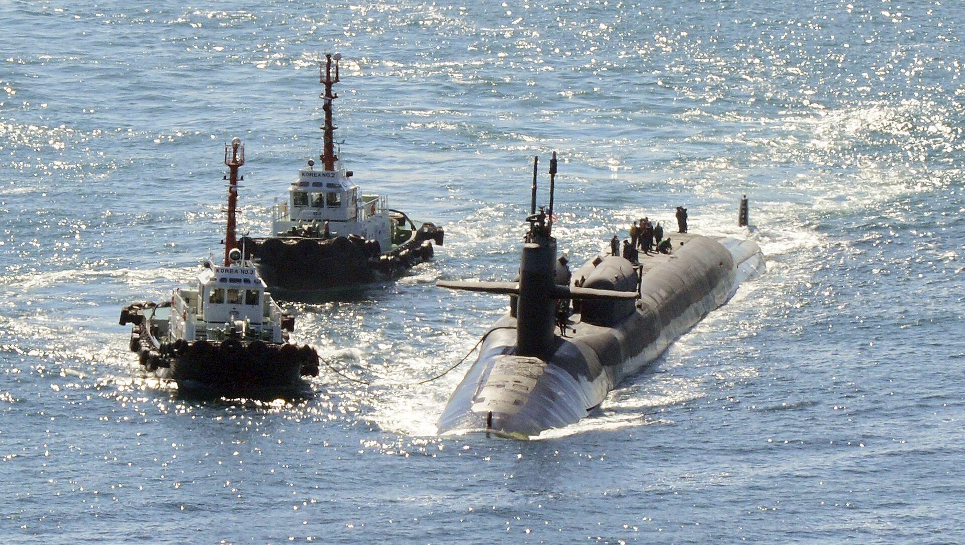 Sottomarino nucleare USS Michigan in Corea del Sud - Sputnik Italia, 1920, 13.04.2021