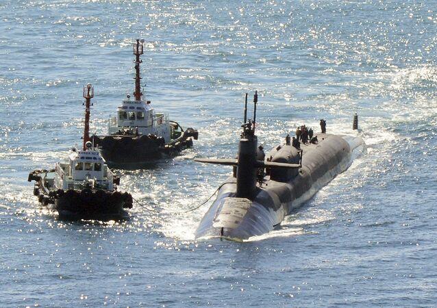 Sottomarino nucleare USS Michigan in Corea del Sud