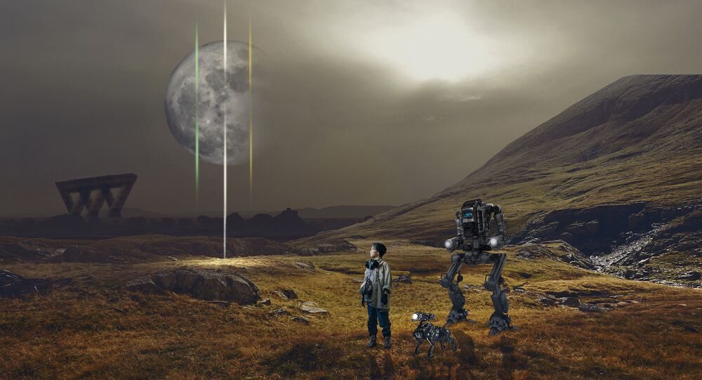 Futuro distopico - illustrazione metaforica