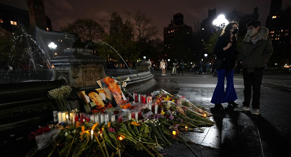 Il memoriale a Daunte Wright e Dominique Lucious a New York