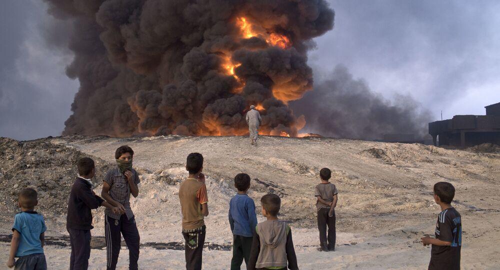 Pozzo petrolifero in Iraq
