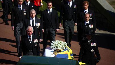 I membri della famiglia reale al funerale del principe Filippo