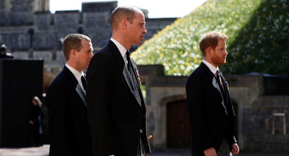 I principi Carlo, William e Harry