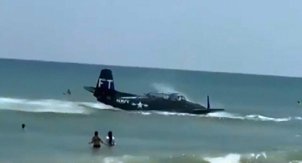 Un aereo della Seconda guerra mondiale è precipitato nell'oceano