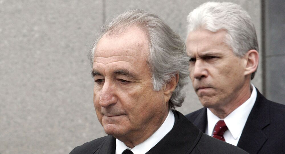 """In this Tuesday, March 10, 2009, file photo, former financier Bernie Madoff exits federal court in Manhattan, in New York. Madoff asked a federal judge Wednesday, Feb. 5, 2020, to grant him a """"compassionate release"""" from his 150-year prison sentence, saying he has terminal kidney failure and less than 18 months to live."""