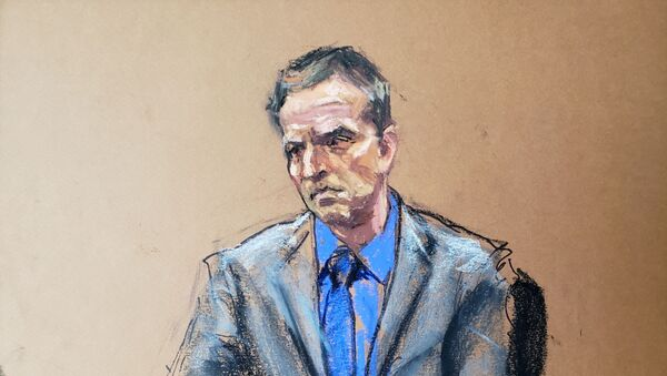 Former Minneapolis police officer Derek Chauvin listens as defence attorney Eric Nelson makes closing arguments during the trial of Chauvin for second-degree murder, third-degree murder and second-degree manslaughter in the death of George Floyd in Minneapolis, Minnesota, U.S. April 19, 2021 in this courtroom sketch.  - Sputnik Italia