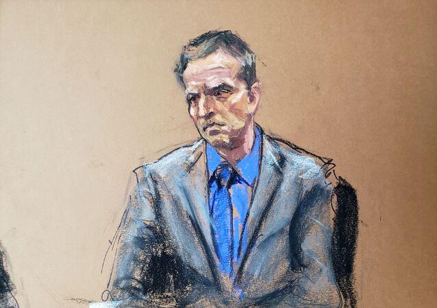 Derek Chauvin durante udienza