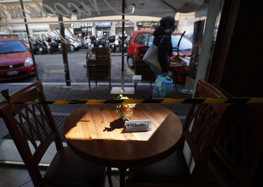 I bar e i ristoranti di Roma chiusi per la pandemia del Covid-19, Italia