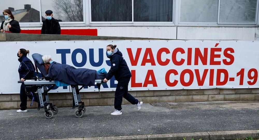 Centro di vaccinazione in Francia