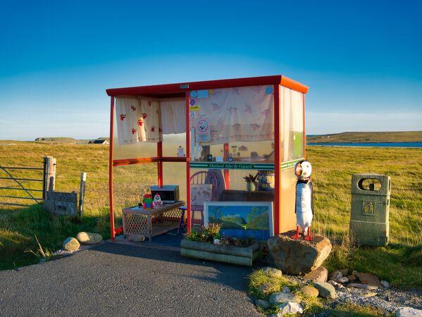 La fermata dell'autobus in Scozia - Sputnik Italia