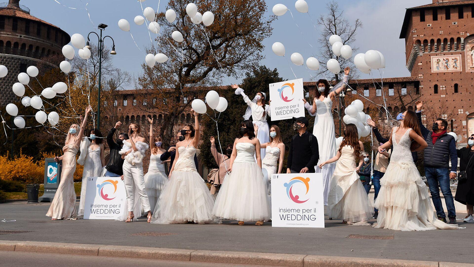 Roma, la manifestazione organizzata da Insieme per il Wedding - Sputnik Italia, 1920, 18.05.2021