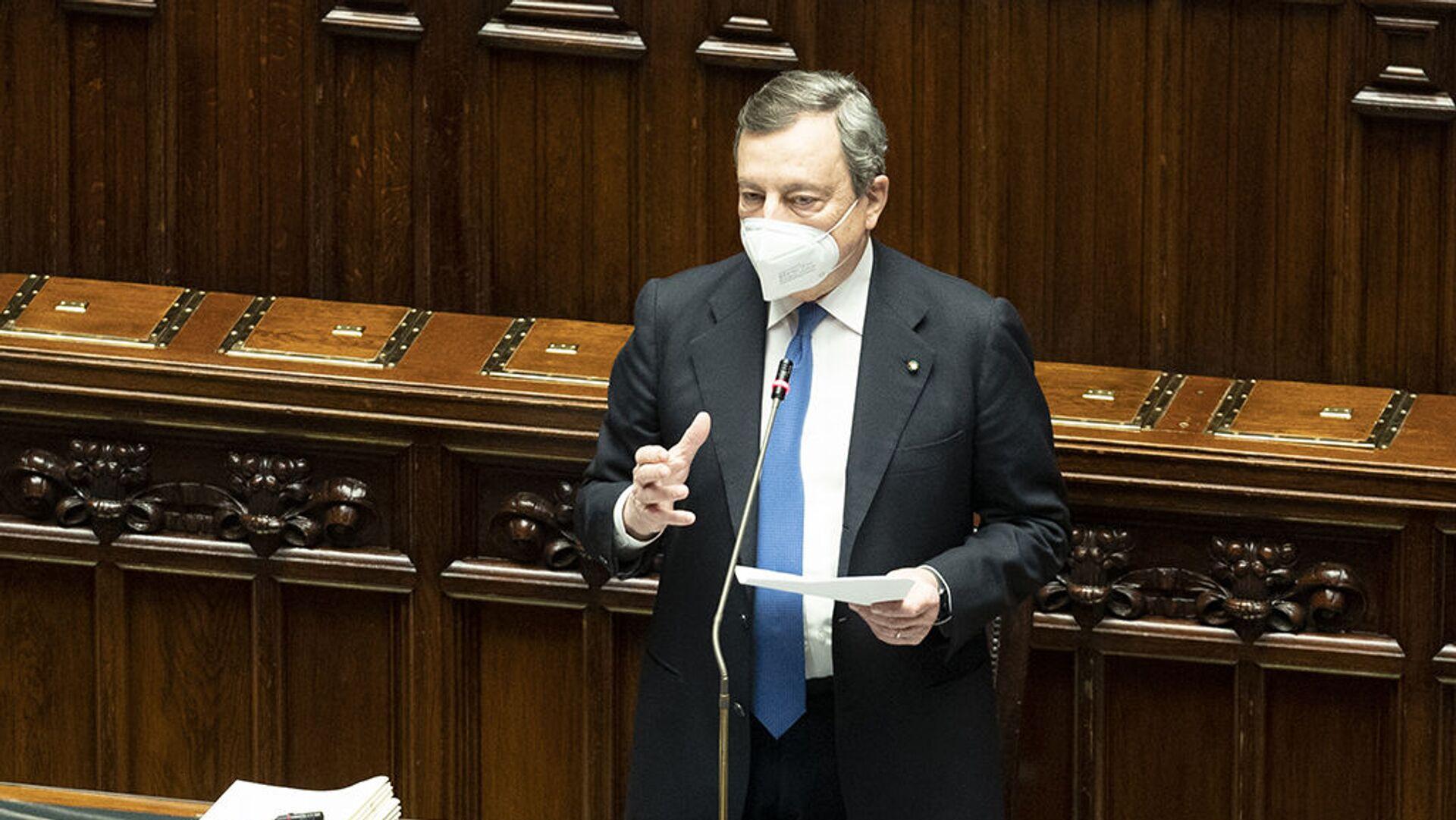 Mario Draghi interviene in parlamento - Sputnik Italia, 1920, 20.07.2021