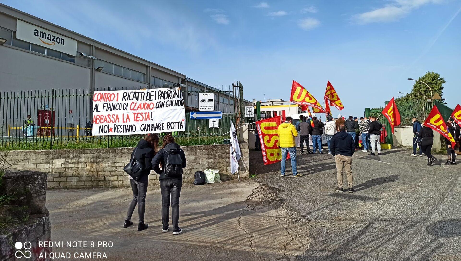 Proteste Amazon Pomezia - Sputnik Italia, 1920, 26.04.2021