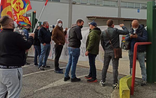 Protesta Usb stabilimento Amazon Pomezia - Sputnik Italia