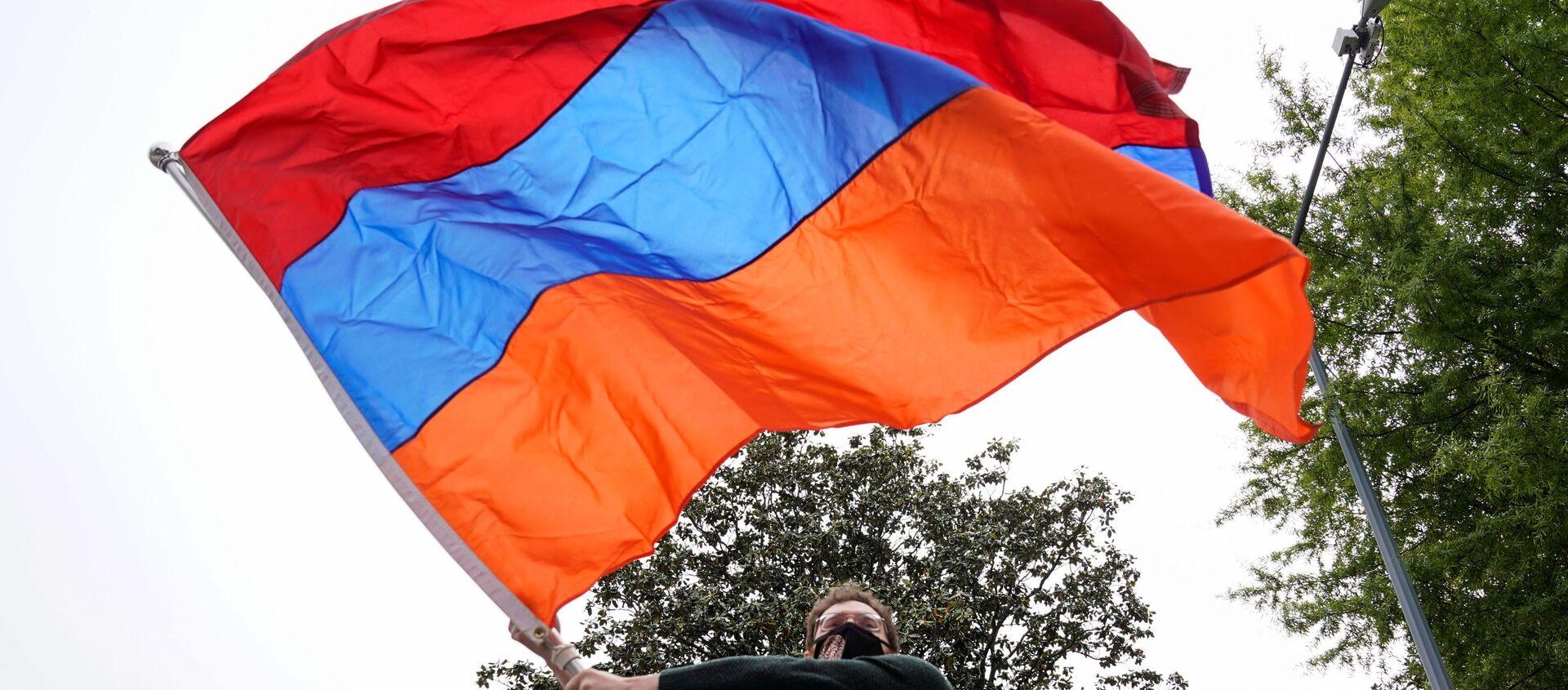 Armeni protestano davanti l'Ambasciata turca a Washington - Sputnik Italia, 1920, 28.04.2021