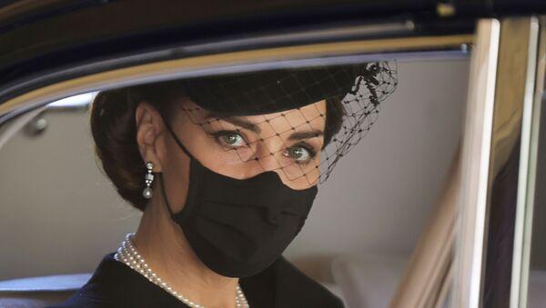 La Duchessa di Cambridge durante i funerali del Principe Filippo - Sputnik Italia