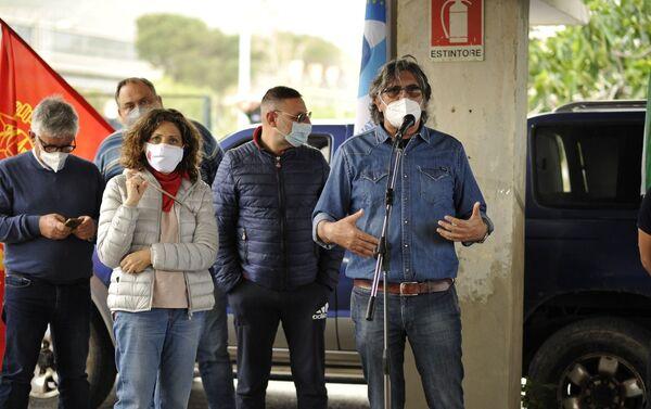 1 maggio presidio lavoratori Blutec di Termini Imerese - Sputnik Italia
