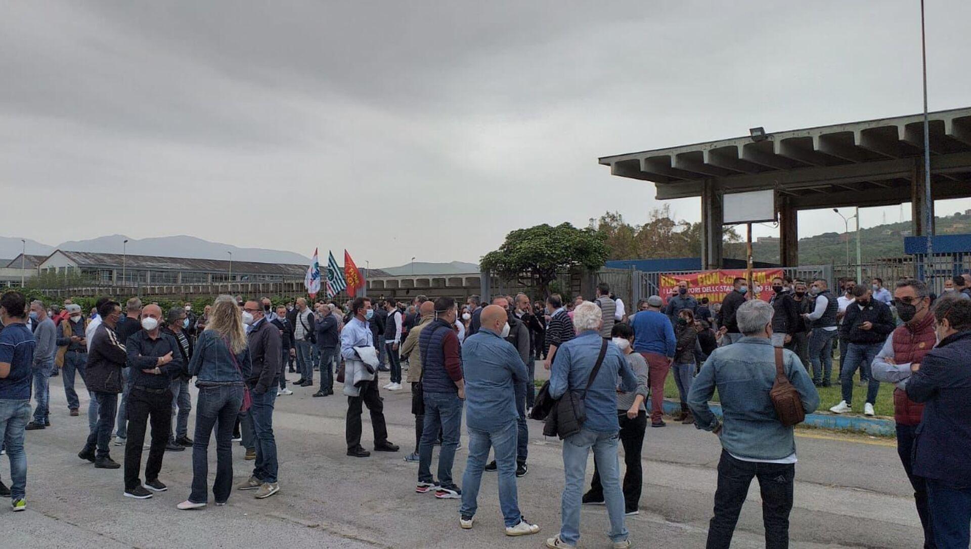 1 maggio protesta lavoratori Blutec di Termini Imerese - Sputnik Italia, 1920, 01.05.2021