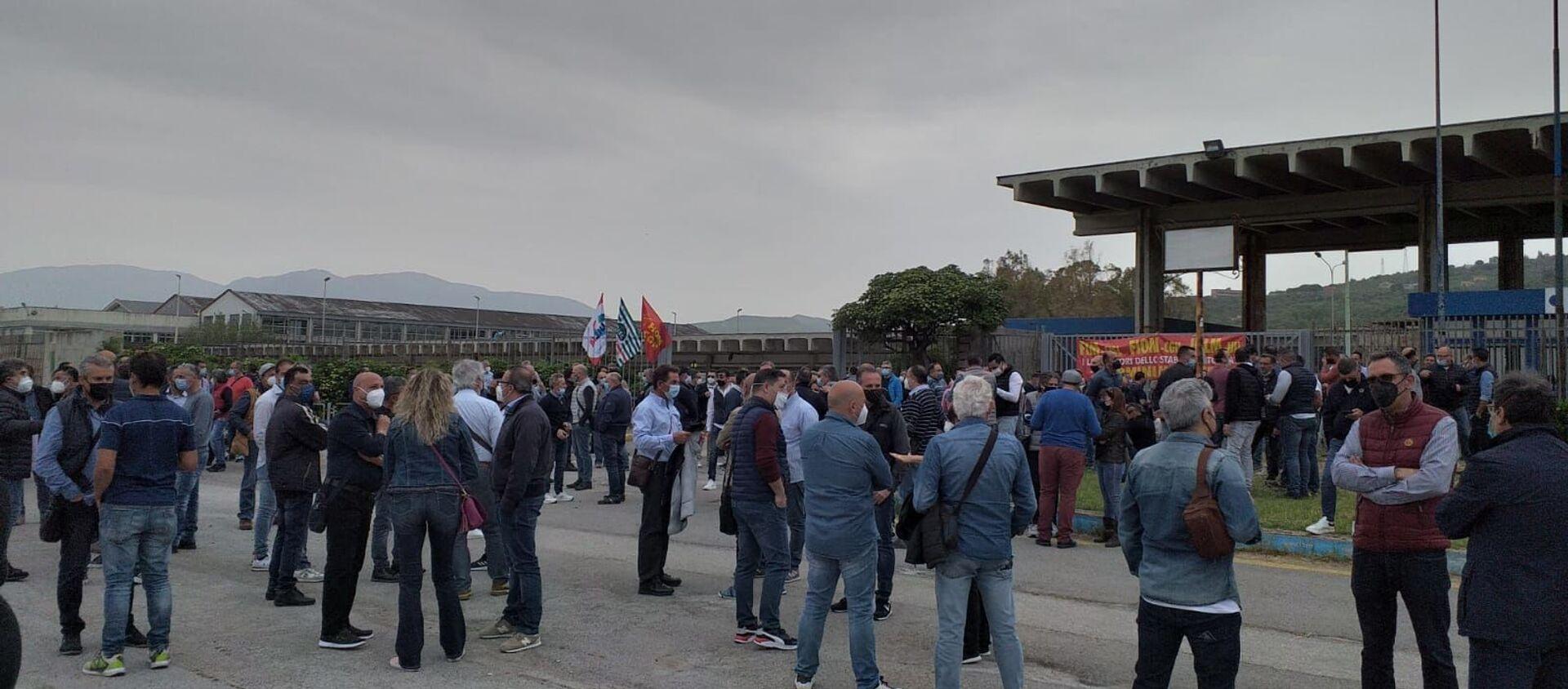 1 maggio protesta lavoratori Blutec di Termini Imerese - Sputnik Italia, 1920, 12.05.2021