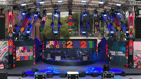 Il palco del Concerto del 1° Maggio 2021 - Sputnik Italia