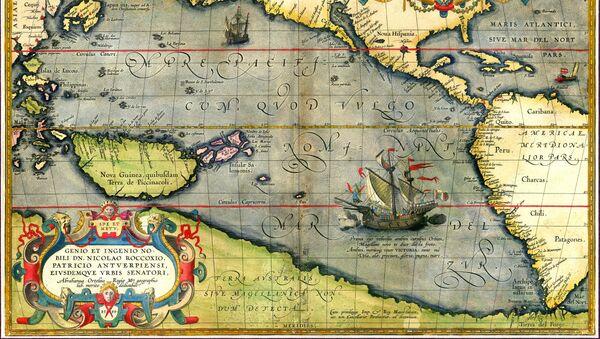 La Victoria, la nave di Ferdinando Maglelano, sulla carta di Abraham Ortelius  - Sputnik Italia