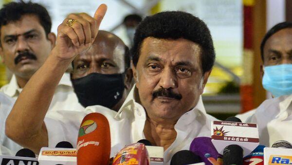 Il neo presidente dello stato del Tamil Nadu, M. K. Stalin  - Sputnik Italia