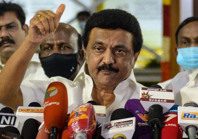Il neo presidente dello stato del Tamil Nadu, M. K. Stalin