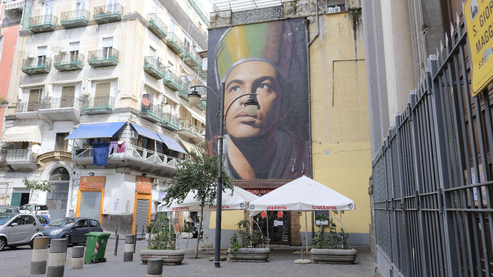Murales di San Gennaro a Piazza Crocelle ai Mannesi a Forcella, Napoli - Sputnik Italia, 1920, 10.07.2021