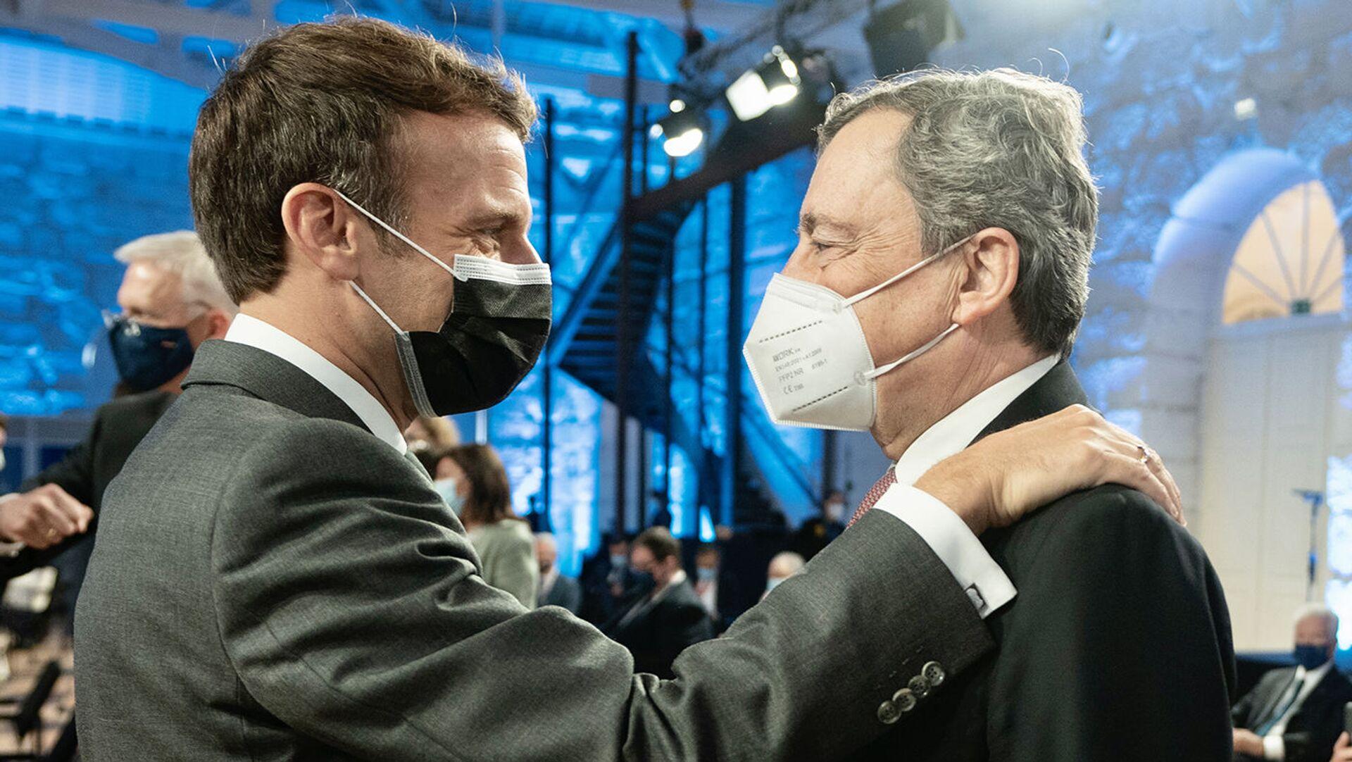 Il Presidente del Consiglio, Mario Draghi, partecipa a Oporto il 7 e 8 maggio 2021 al Porto Social Summit, al Consiglio Europeo informale e alla videoconferenza del Vertice UE-India. - Sputnik Italia, 1920, 01.09.2021