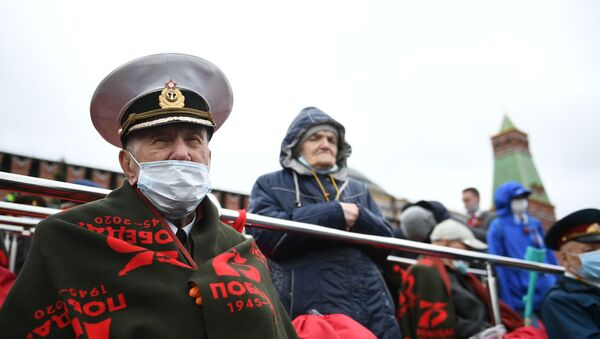 Parata militare in occasione del 76 anniversario del Giorno della Vittoria, Mosca - Sputnik Italia