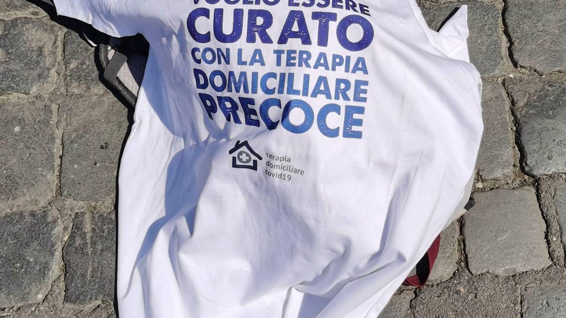 Roma, manifestazione per la terapia domiciliare precoce - Sputnik Italia, 1920, 09.05.2021