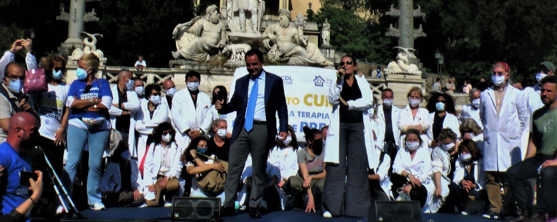 Manifestazione Terapia Domiciliare Precoce , 8 maggio 2021 Piazza del Popolo, Roma - Sputnik Italia, 1920, 10.05.2021