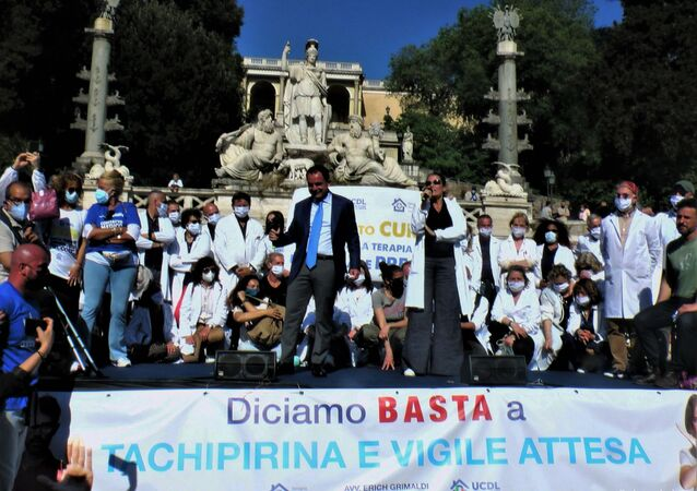 Manifestazione Terapia Domiciliare Precoce , 8 maggio 2021 Piazza del Popolo, Roma