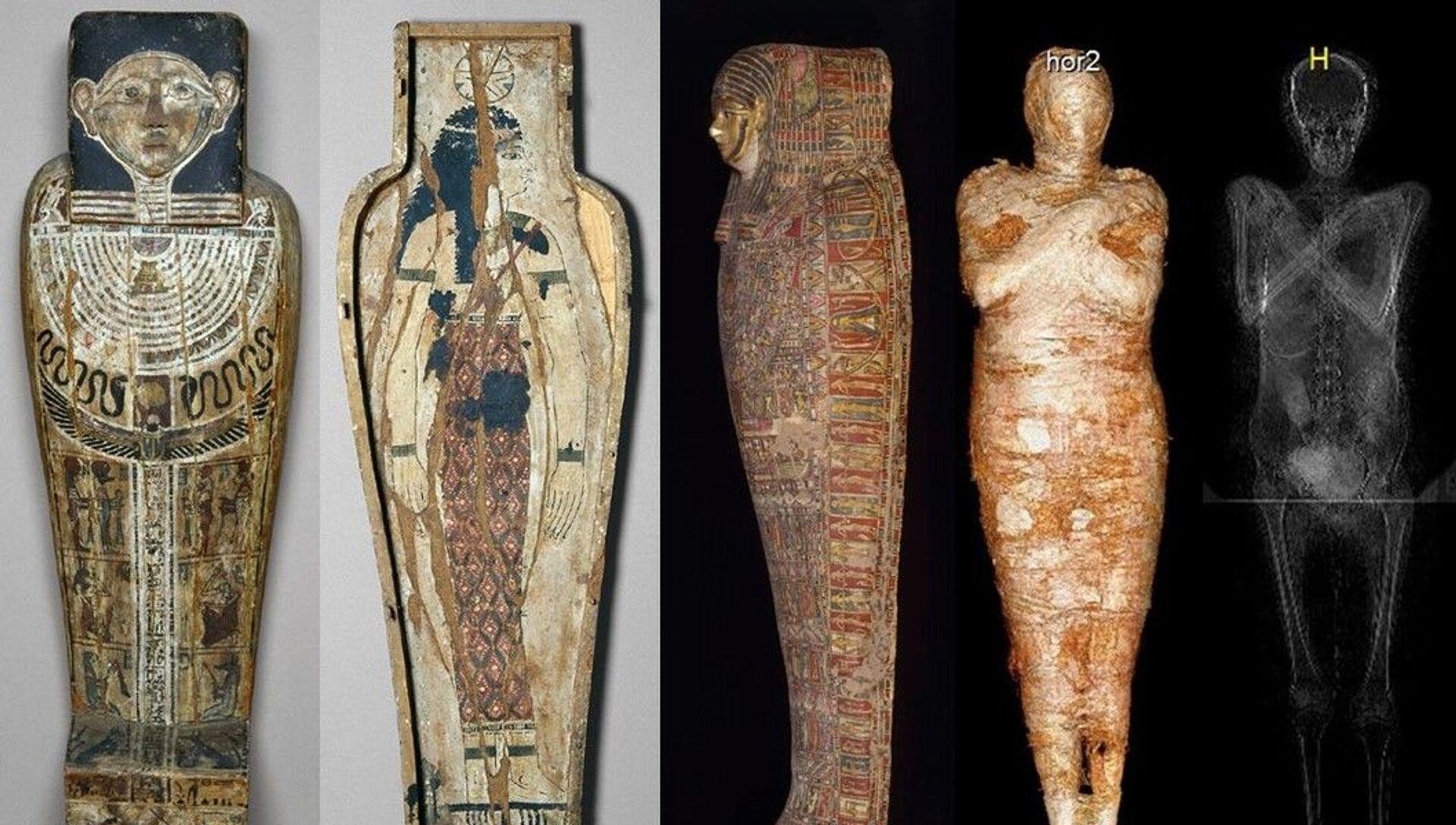 L'esame radiologico di un'antica mummia rinvenuta nelle tombe reali dell'Alto Egitto ha dimostrato che si tratta del corpo di una donna incinta. - Sputnik Italia, 1920, 18.05.2021