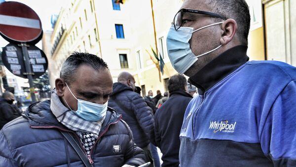 Presidio Whirlpool al Ministero dello Sviluppo Economico - Sputnik Italia