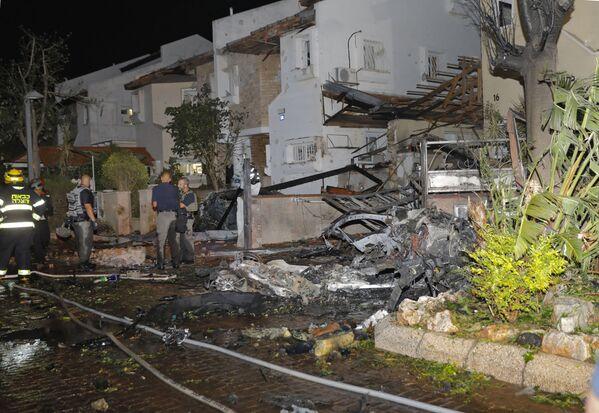 In totale si stima che circa 150 razzi siano stati lanciati dalla striscia di Gaza su Israele, con dozzine di essi che sono stati intercettati dal sistema di difesa missilistica Iron Dome. - Sputnik Italia