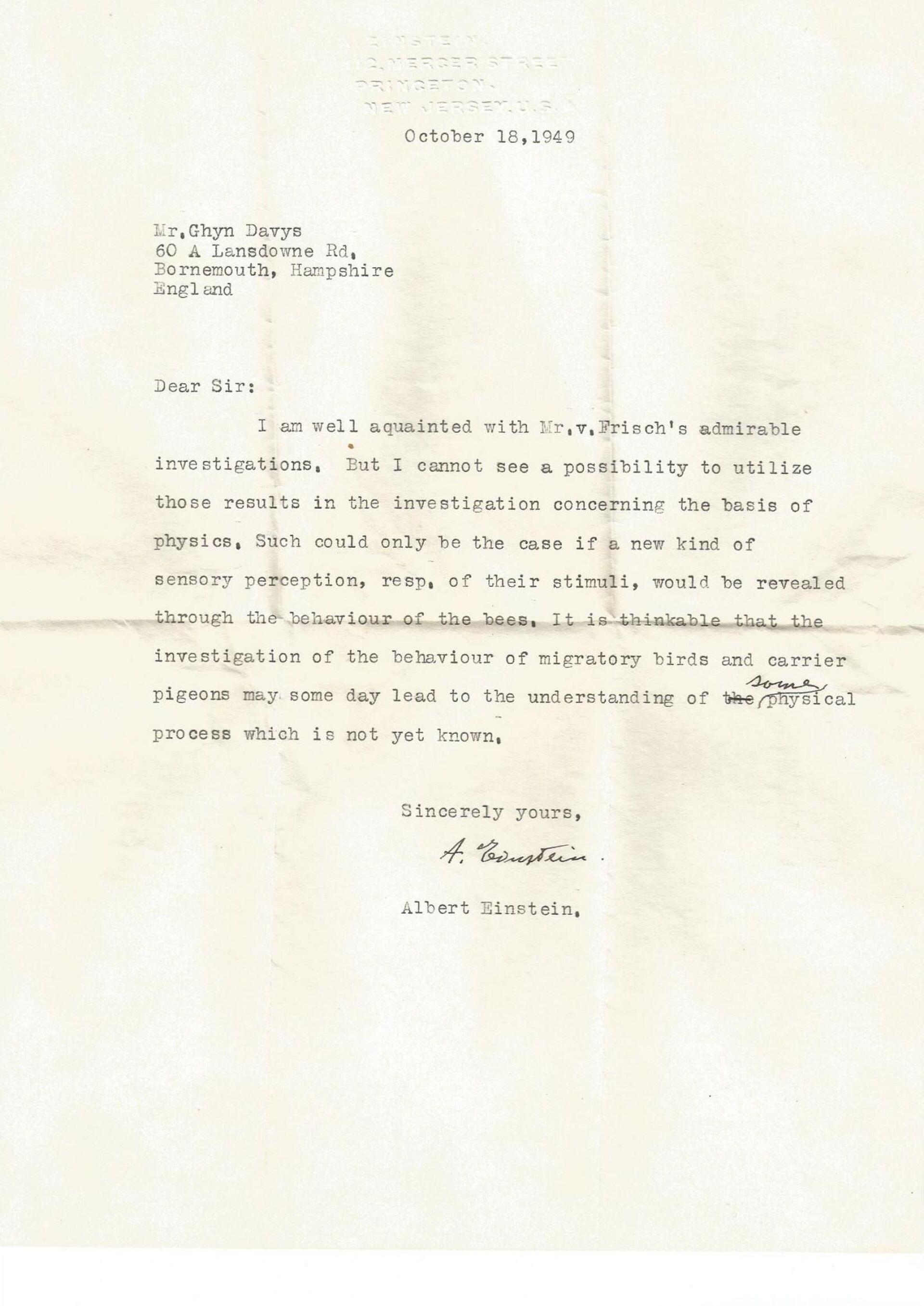Pubblicata lettera ignota di Einstein su iper-sensi degli animali - Sputnik Italia, 1920, 18.05.2021