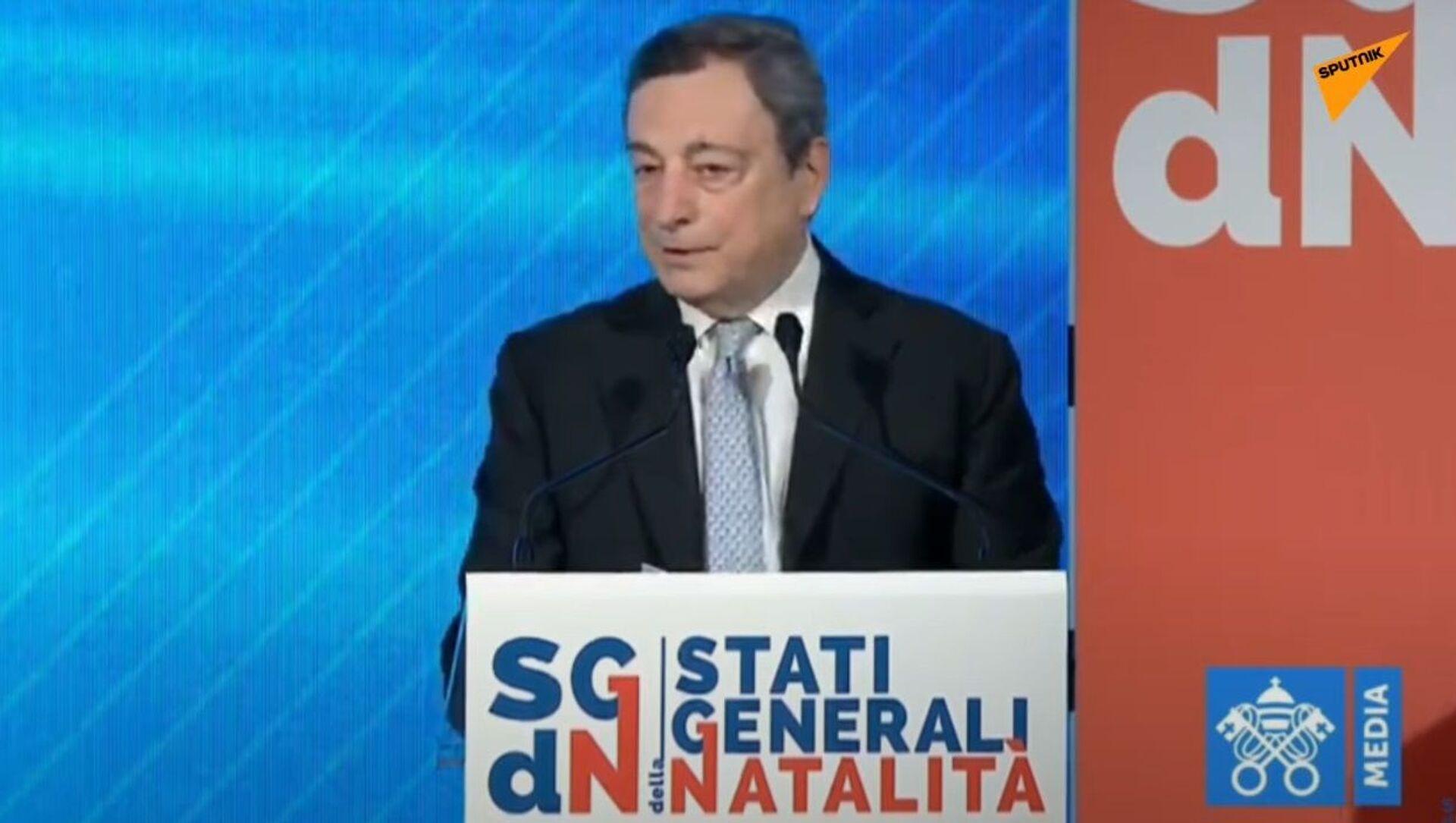 Draghi agli Stati generali della natalità - Sputnik Italia, 1920, 14.05.2021