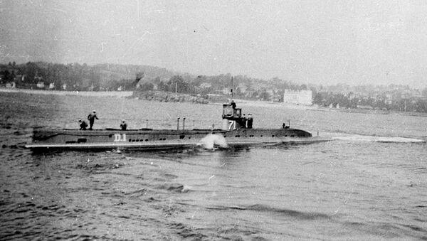 Sottomarino HMS D1 della Marina britannica, foto del 1912 - Sputnik Italia