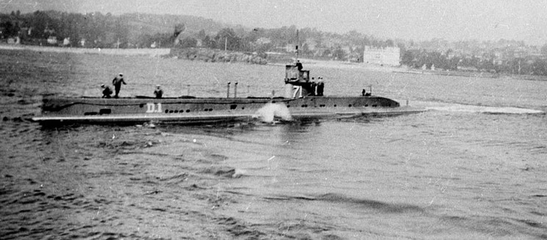Sottomarino HMS D1 della Marina britannica, foto del 1912 - Sputnik Italia, 1920, 14.05.2021