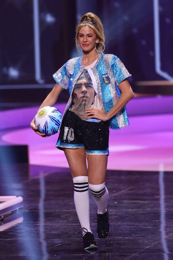Miss Argentina Alina Akselrad durante il National Costume Show, la sfilata con l'abito nazionale, nell'ambito del concorso Miss Universo 2021, Seminole Hard Rock Hotel & Casino, Hollywood, Florida, 13 maggio 2021 - Sputnik Italia