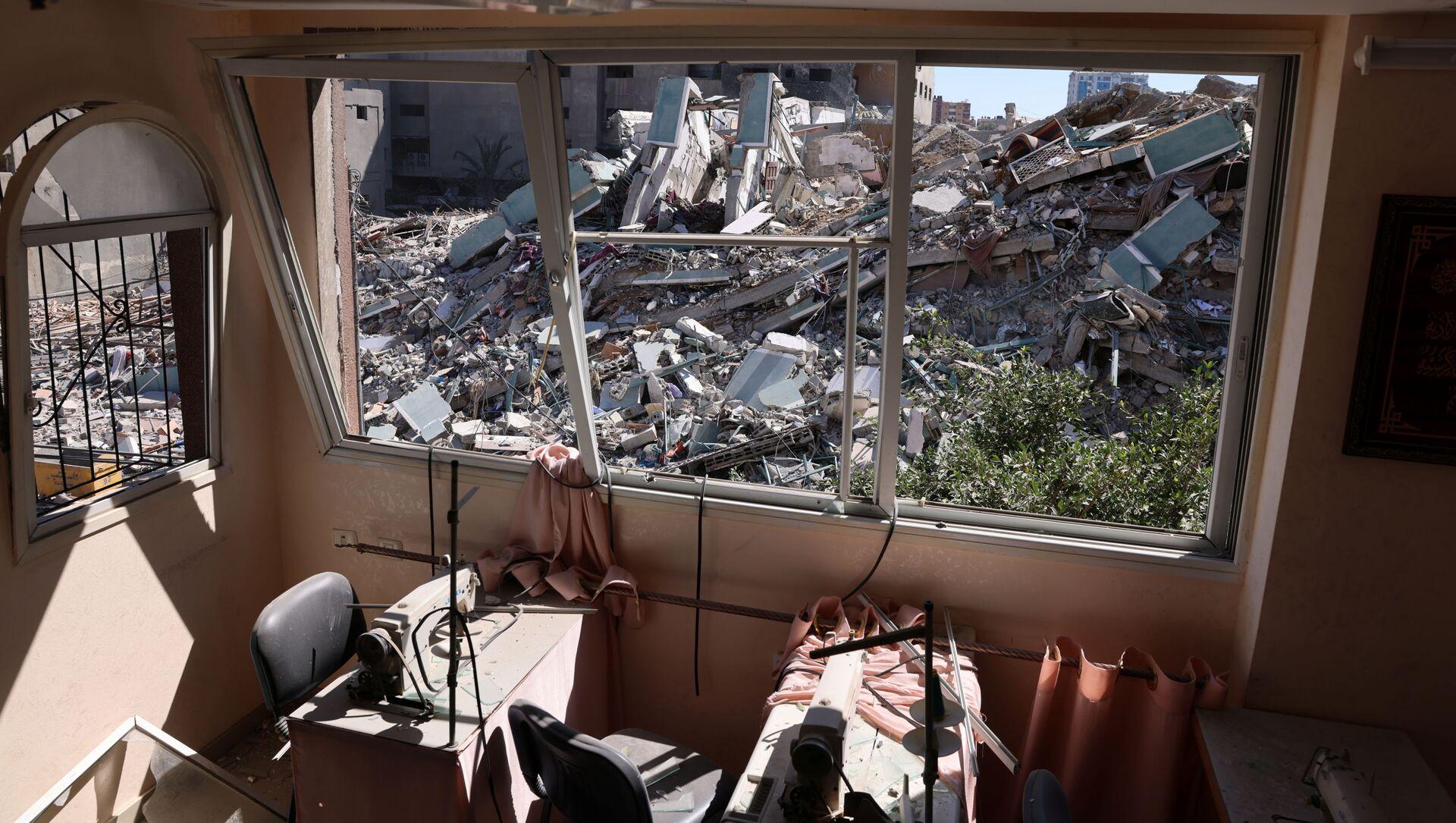 Le conseguenze dei raid israeliani a Gaza  - Sputnik Italia, 1920, 16.05.2021