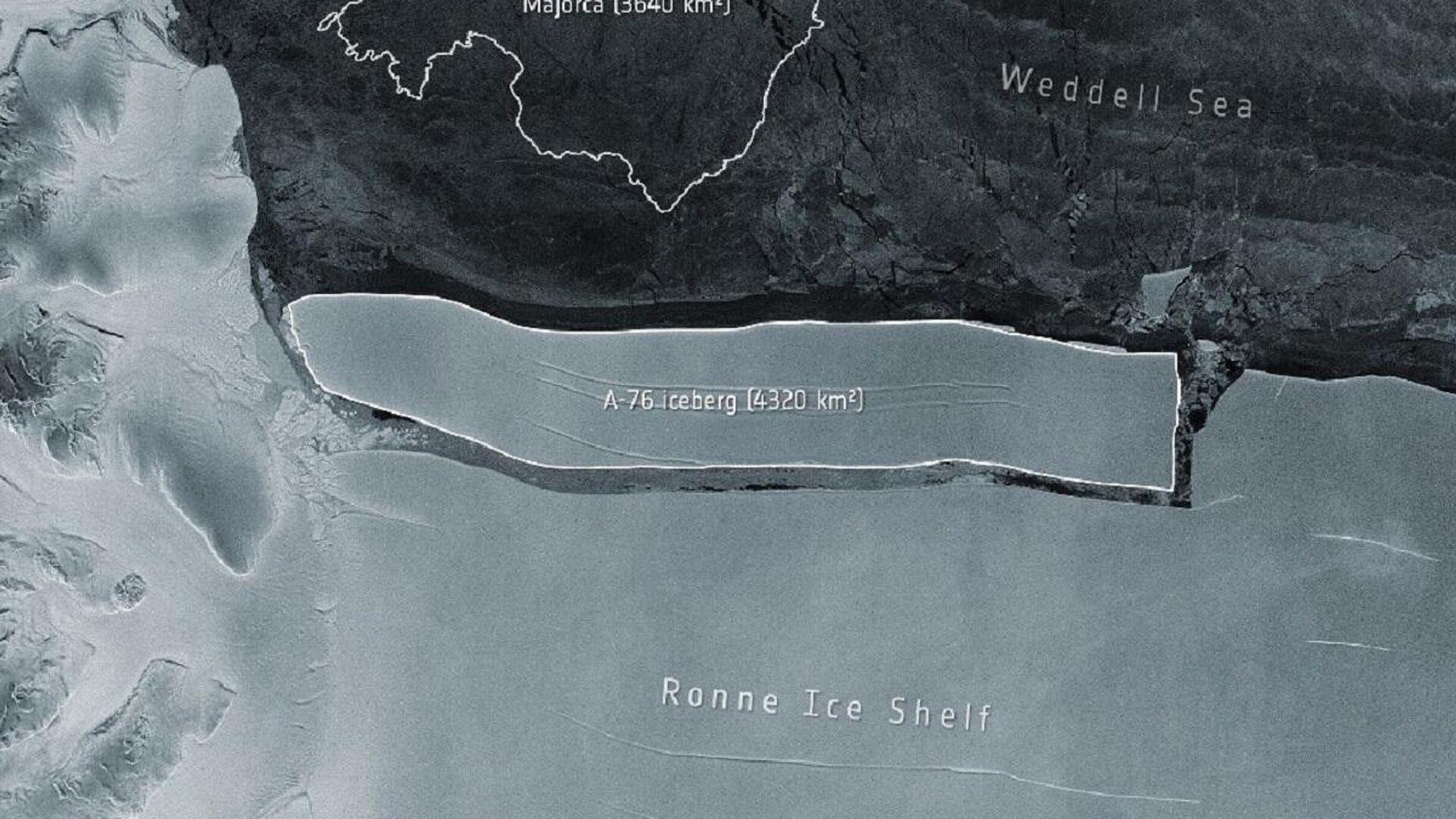 L'iceberg A76 in Antartide - Sputnik Italia, 1920, 24.05.2021
