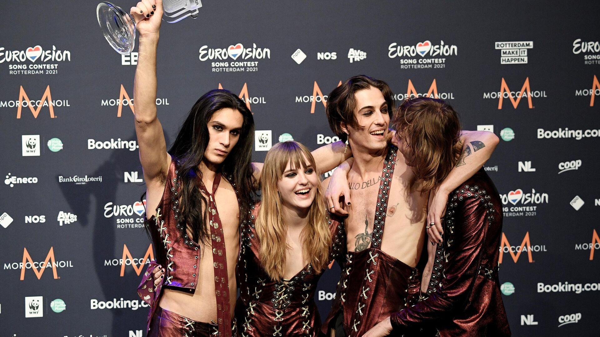 I Maneskin festeggiano la vittoria dell'Eurovision - Sputnik Italia, 1920, 23.05.2021