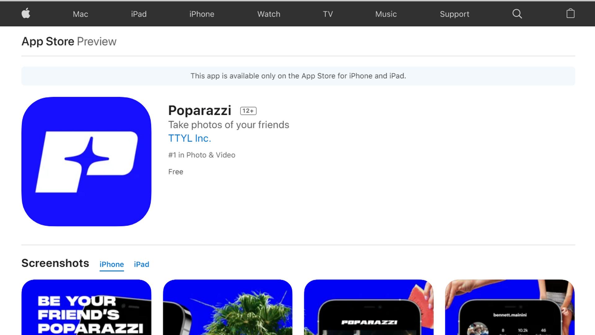La nuova app social Poparazzi, attualmente disponibile solo su App Store - Sputnik Italia, 1920, 25.05.2021