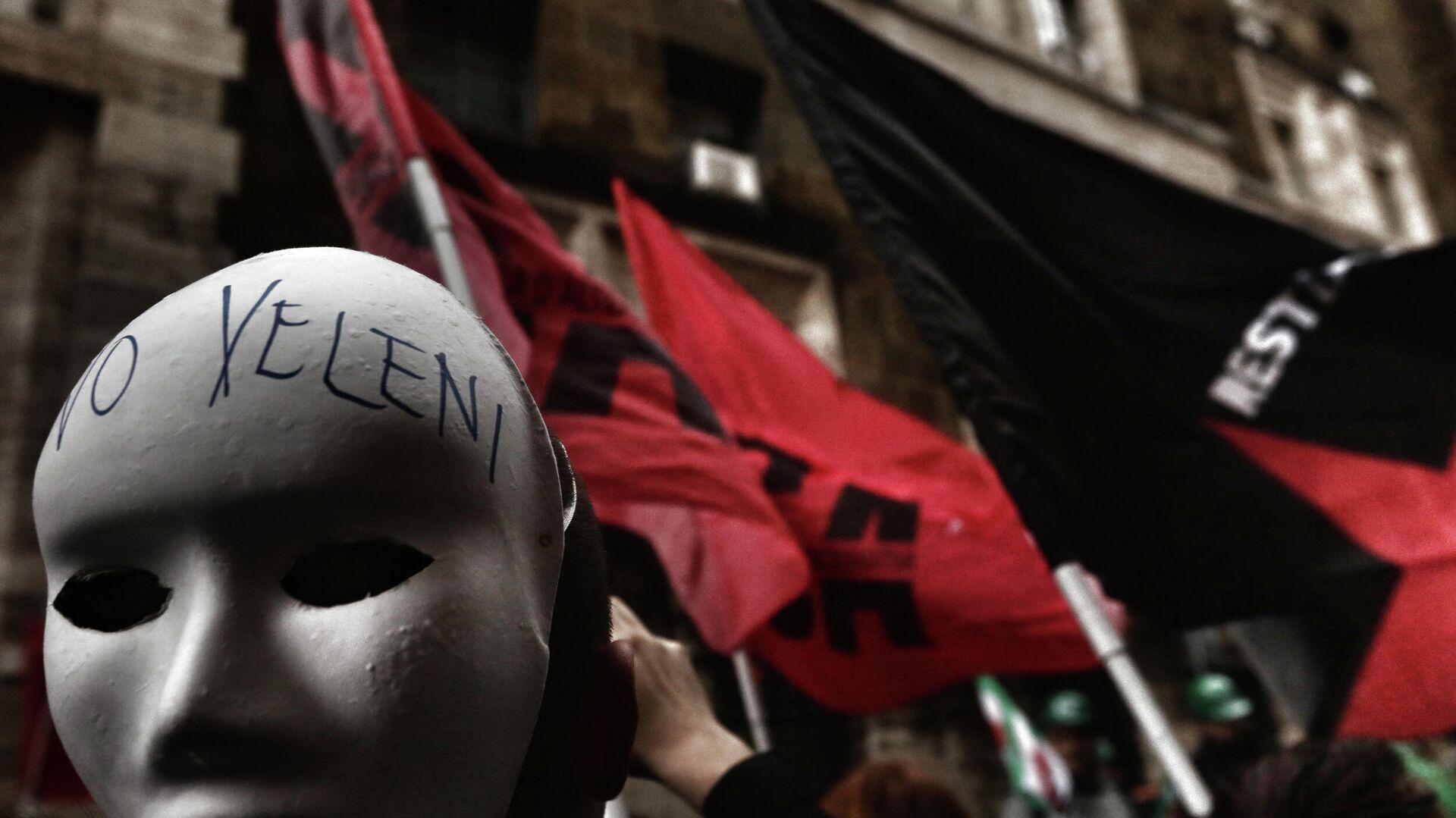 Protesta dei lavoratori ex ILVA a Roma - Sputnik Italia, 1920, 27.05.2021