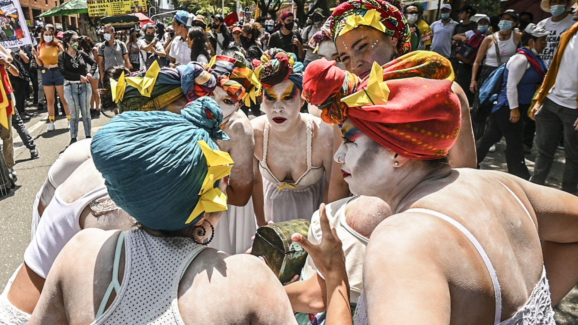 Proteste in Colombia: anche gli artisti scendono in piazza contro il presidente Ivan Duque - Sputnik Italia, 1920, 06.06.2021