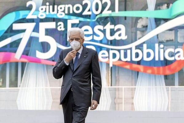 Presidente della Repubblica Sergio Mattarella nel suo intervento alla cerimonia della Festa nazionale della Repubblica. - Sputnik Italia
